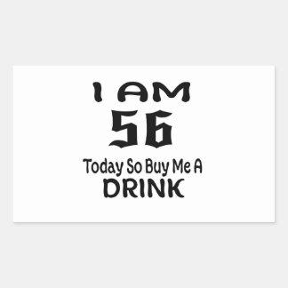 Sticker Rectangulaire 56 achetez-aujourd'hui ainsi moi une boisson