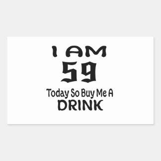 Sticker Rectangulaire 58 achetez-aujourd'hui ainsi moi une boisson