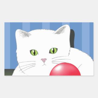 Sticker Rectangulaire 63White Cat_rasterized