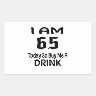 Sticker Rectangulaire 65 achetez-aujourd'hui ainsi moi une boisson