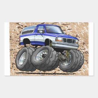 Sticker Rectangulaire 92-96 W bleu Bronco