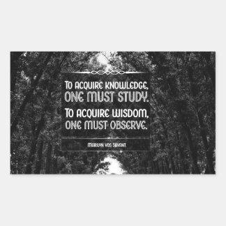 Sticker Rectangulaire Acquérez la sagesse