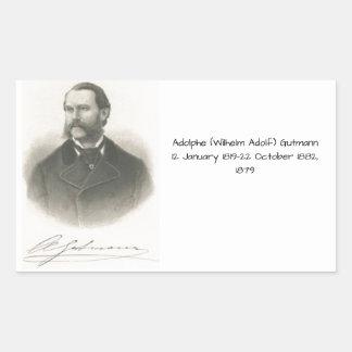 Sticker Rectangulaire Adolphe (Wilhelm Adolf) Gutmann