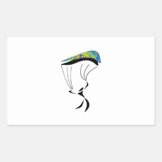 Sticker Rectangulaire Aérodynamique