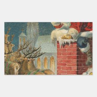 Sticker Rectangulaire Affiche 1906 clous de Père Noël de cru original