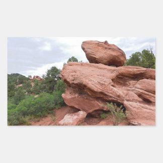 Sticker Rectangulaire Affleurement rocheux au jardin des dieux
