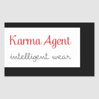 Sticker Rectangulaire agent de karma - usage intelligent, énergie