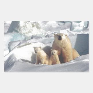 Sticker Rectangulaire Ajoutez le SLOGAN pour sauver la glace arctique de