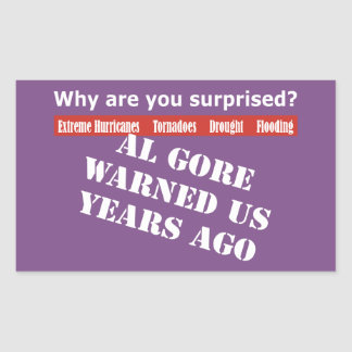 Sticker Rectangulaire Al Gore nous a avertis