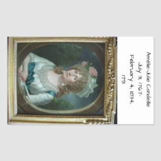 Sticker Rectangulaire Amélie Julie Candeille 1791