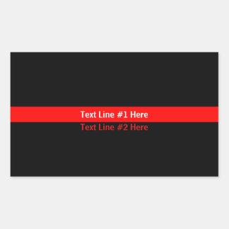 Sticker Rectangulaire Amincissez la ligne rouge symbolique commémoratif