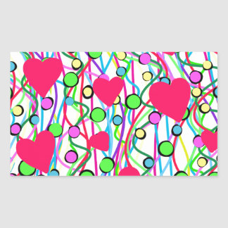 Sticker Rectangulaire Amour