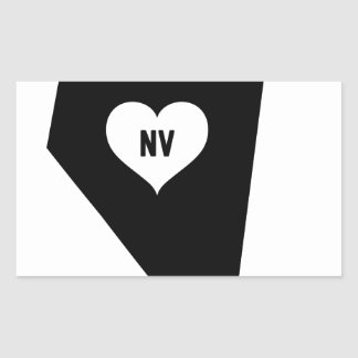 Sticker Rectangulaire Amour du Nevada