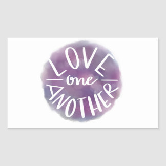 Sticker Rectangulaire Amour Main-En lettres un un autre de Bokeh