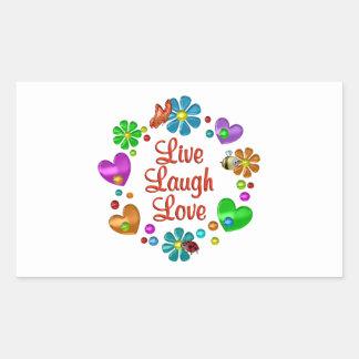 Sticker Rectangulaire Amour vivant de rire d'amusement