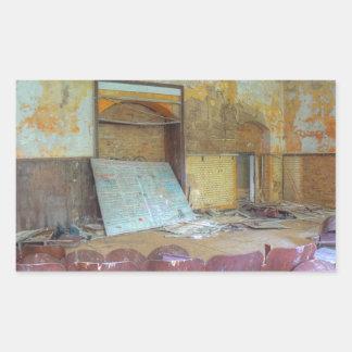 Sticker Rectangulaire Amphithéâtre 01,0, endroits perdus, Beelitz