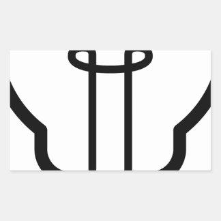 Sticker Rectangulaire Ampoule