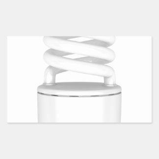 Sticker Rectangulaire Ampoule fluorescente