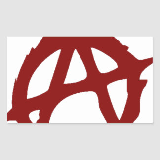 Sticker Rectangulaire Anarchie - UNE : Copie