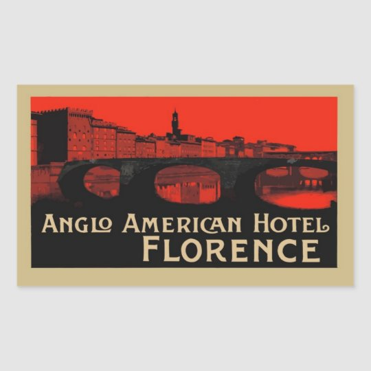 Sticker Rectangulaire Anglo American Hotel (Florence)