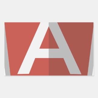 Sticker Rectangulaire AngularJS Shield Logo