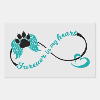 Sticker Rectangulaire Animaux familiers pour toujours à mon coeur