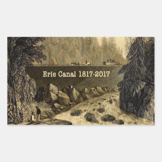 Sticker Rectangulaire Années bicentenaires historiques de canal d'Erie