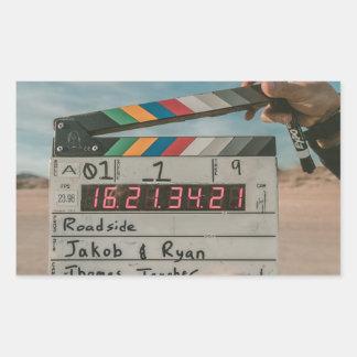 Sticker Rectangulaire Appareil-photo de cinéma de film
