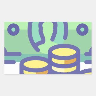 Sticker Rectangulaire Argent d'économie