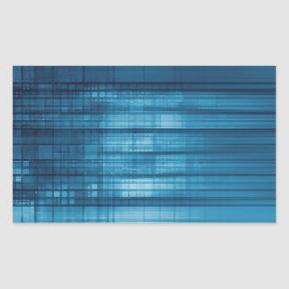 Sticker Rectangulaire Arrière - plan de mosaïque de technologie comme