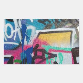 Sticker Rectangulaire arrière - plan de tache de graffiti