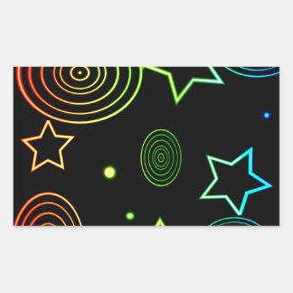 Sticker Rectangulaire Arrière - plan d'étoiles