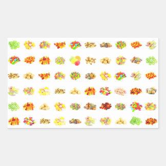Sticker Rectangulaire Arrière - plan sans couture de motif de sucrerie