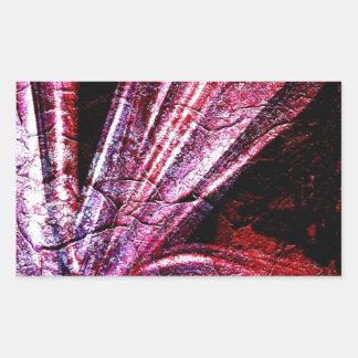 Sticker Rectangulaire Art antique R royal brillant solide de mode de