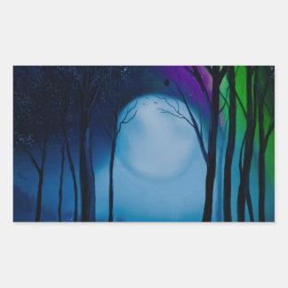 Sticker Rectangulaire Art de forêt d'imaginaire