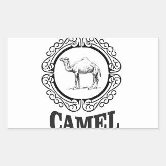 Sticker Rectangulaire art de logo de chameau