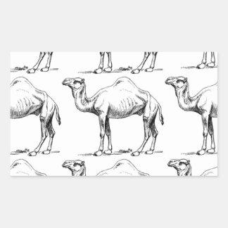 Sticker Rectangulaire Art de troupeau de chameau