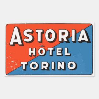 Sticker Rectangulaire Astoria Hôtel (Torino - Italy)