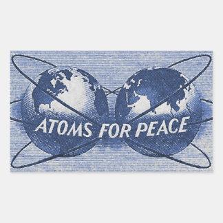 Sticker Rectangulaire Atomes pour la paix