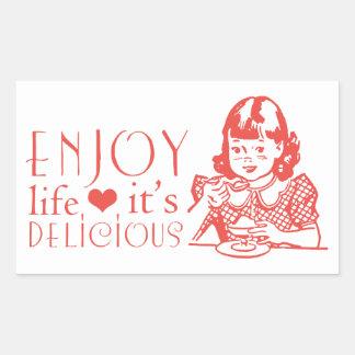 Sticker Rectangulaire Attitude, cuisine de motivation de citation de la