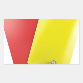 Sticker Rectangulaire Attributs d'arbitre du football