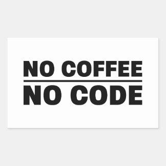 Sticker Rectangulaire Aucun café aucun code