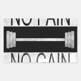 Sticker Rectangulaire Aucune douleur aucun gain