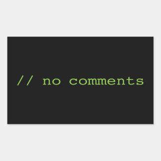 Sticker Rectangulaire Aucuns commentaires