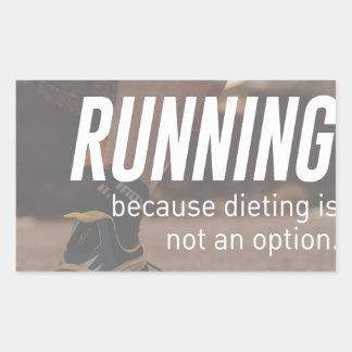 Sticker Rectangulaire Aucuns coureurs courants de régime juste