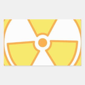 Sticker Rectangulaire Avertissement radioactif