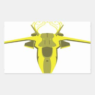 Sticker Rectangulaire Avion