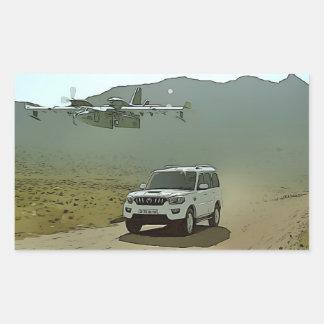 Sticker Rectangulaire Avion de cool de Scorpion de Mahindra