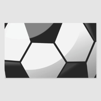 Sticker Rectangulaire Ballon de football