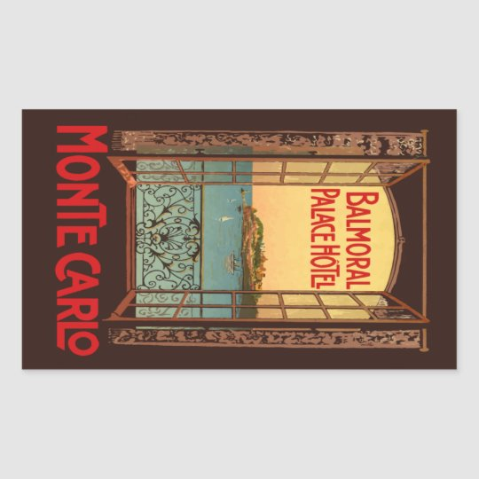 Sticker Rectangulaire Balmoral Palace Hotel (Monte Carlo) Vector Format